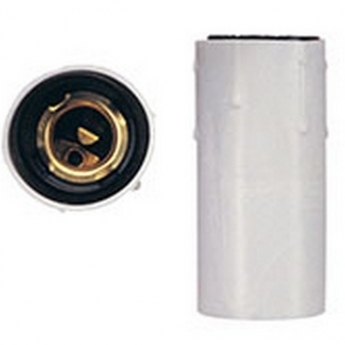 Lampholder porcelain with threaded entry M10x1