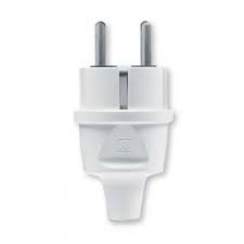 Dvopolni masivni utikač PVC S sa kontaktom za uzemljenje 16A 250V