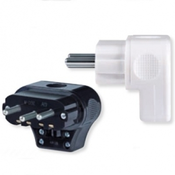 Double pole massive plug S with earthing contact 16A 250V