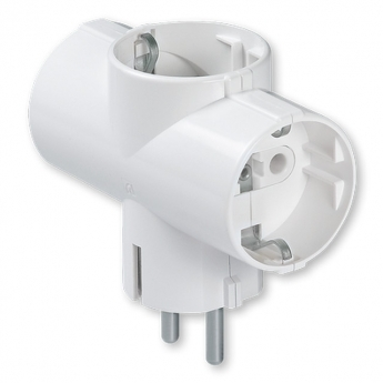Portable 2-pole socket outlet PVC, 16A