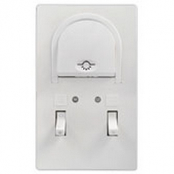 Bathroom switch with indicator with one-way switch