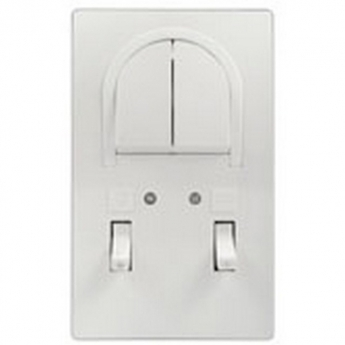 Bathroom switch with indicator with 2 gang one-way switch