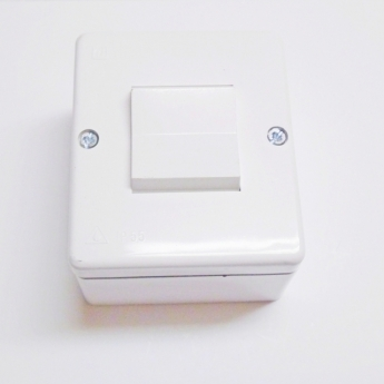 Single-pole switch installation to the wall 10A 250V-white